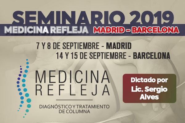 Seminario Medicina Refleja Madrid Barcelona 2019